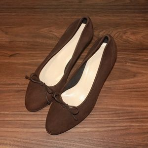 Hobbs suede shoes, size 8